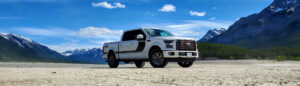 White Ford F-150 Outdoors
